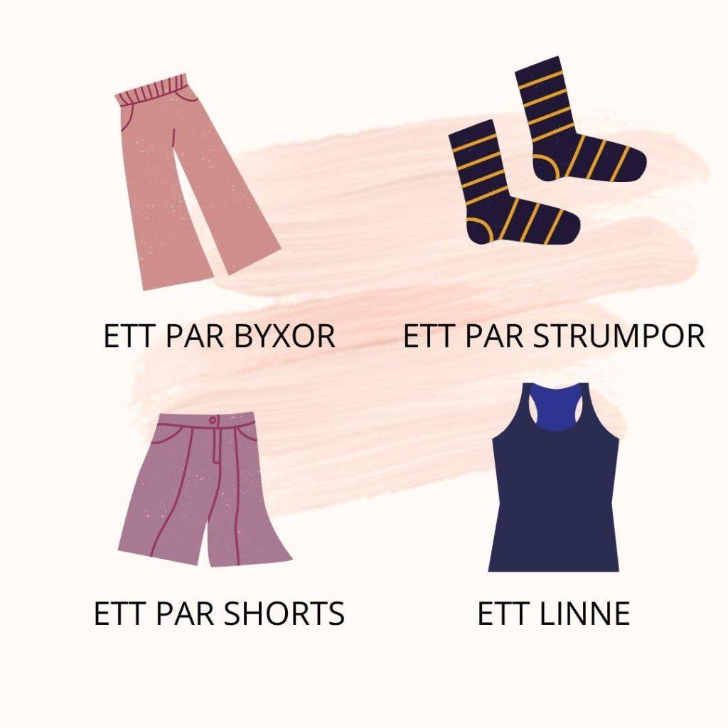 Ubrania po szwedzku - jak nazwać po szwedzku elementy odzieży?